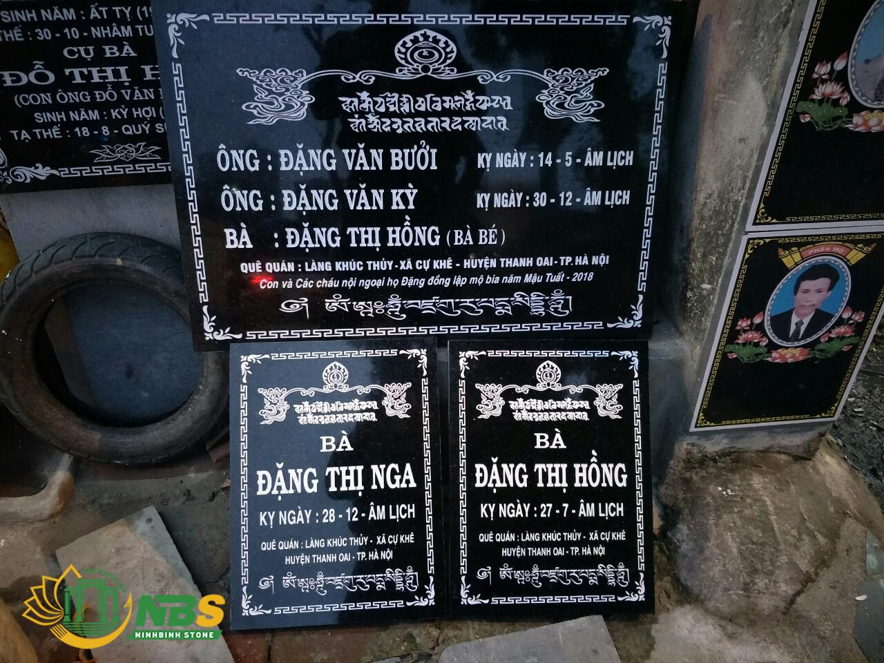 Hình ảnh chạm khắc mẫu bia mộ đẹp của Ninh Bình Stone