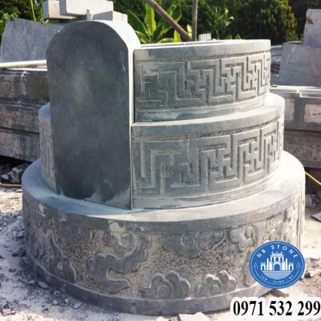 Mẫu mộ đá tròn đẹp - Lăng mộ đá hình tròn đẹp của Ninh Bình Stone