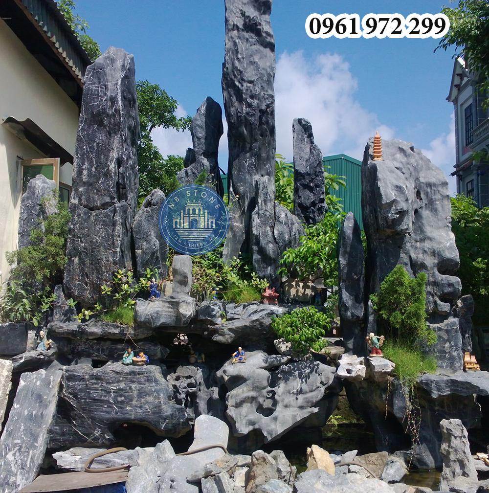 Hòn non bộ đá tam sơn của Ninh Bình Stone