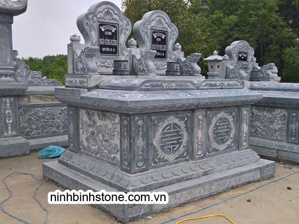 Mẫu mộ đá đôi không mái đẹp nhất - Mẫu mộ đôi xây đẹp của Ninh Bình Stone