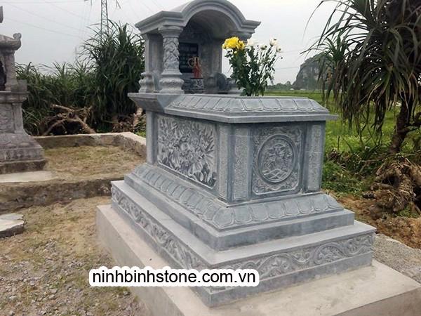 Lăng mộ bằng đá khối xanh: Mộ đá xanh loại một mái vòm của Ninh Bình Stone