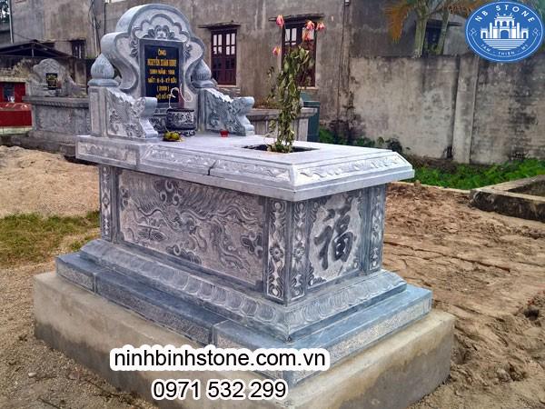 Mẫu Mộ đá Tam Sơn đẹp - Lăng mộ bằng đá khối xanh: Mẫu Mộ Đá đẹp của Ninh Bình Stone