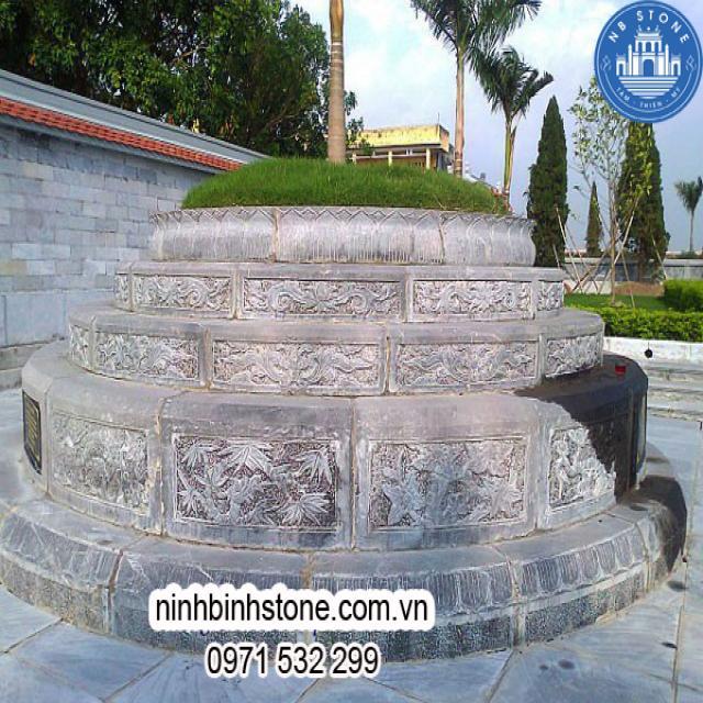 Mẫu mộ tròn bằng đá đẹp tại Ninh Bình Stone
