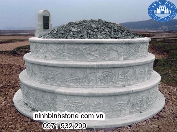 Mộ đá hình tròn đẹp của Ninh Bình Stone