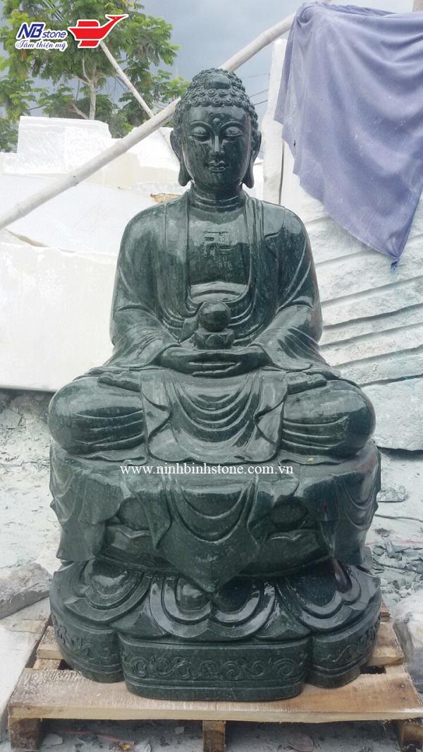 Tượng Phật A Di Đà bằng đá xanh