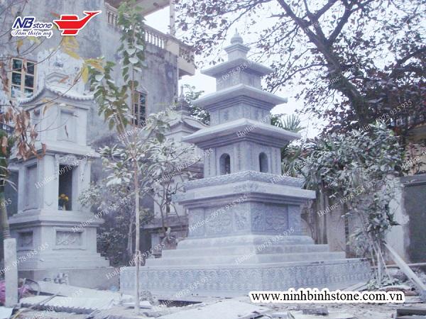 Mẫu mộ tháp đá đẹp