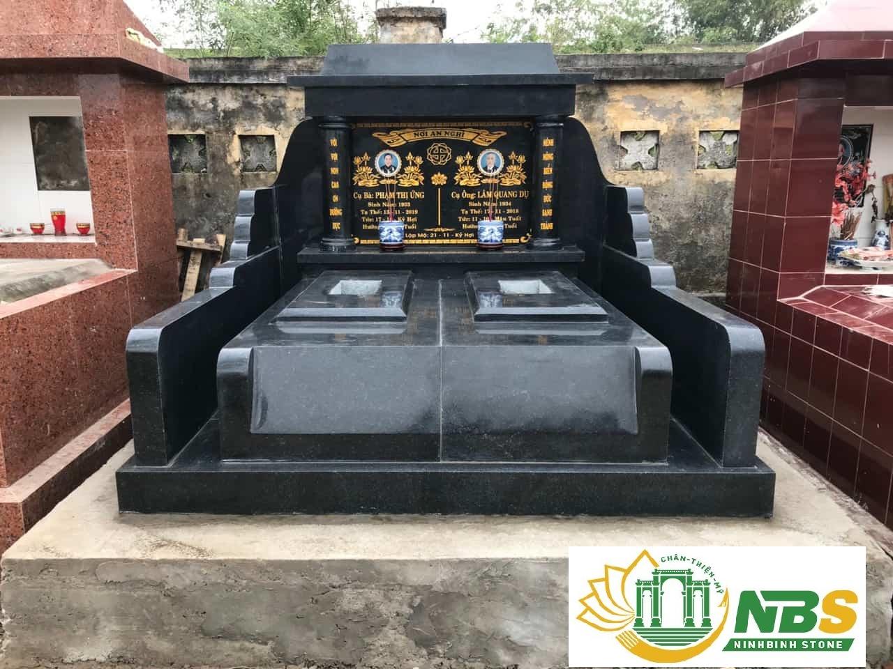 Mẫu mộ đá hoa cương Granite đẹp của Ninh Bình Stone