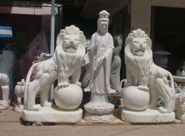 Ý nghĩa của cặp sư tử đá theo phong thủy là gì?
