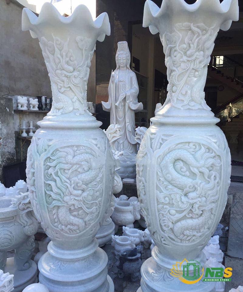 Mẫu lục bình đá trắng đẹp của Ninh Bình Stone