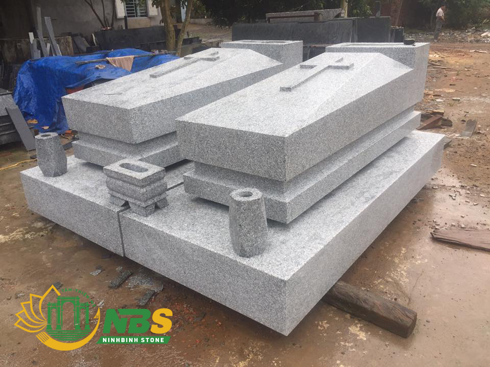 Hình ảnh mộ đá khối mộ công giáo đẹp của Ninh Bình Stone