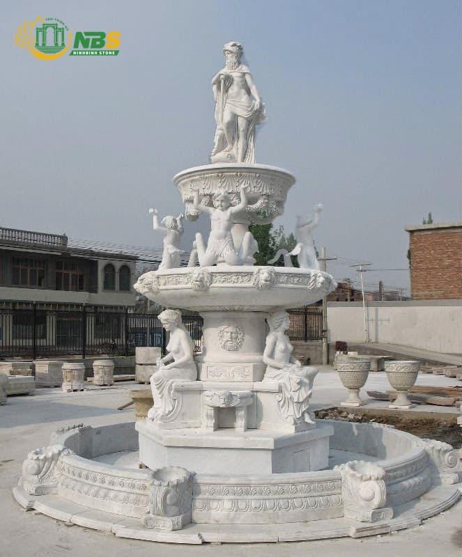 Đài phun nước đẹp, chạm khắc tinh xảo của Ninh Bình Stone