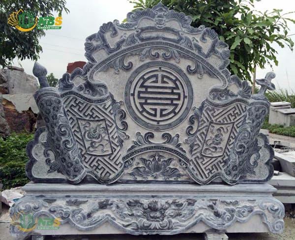 """Mẫu cuốn thư đá chữ """"Thọ"""" của Ninh Bình Stone"""