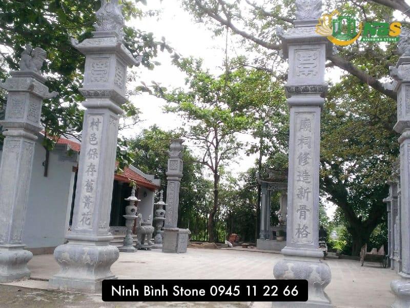 Cột đồng trụ bằng đá cho đình chùa