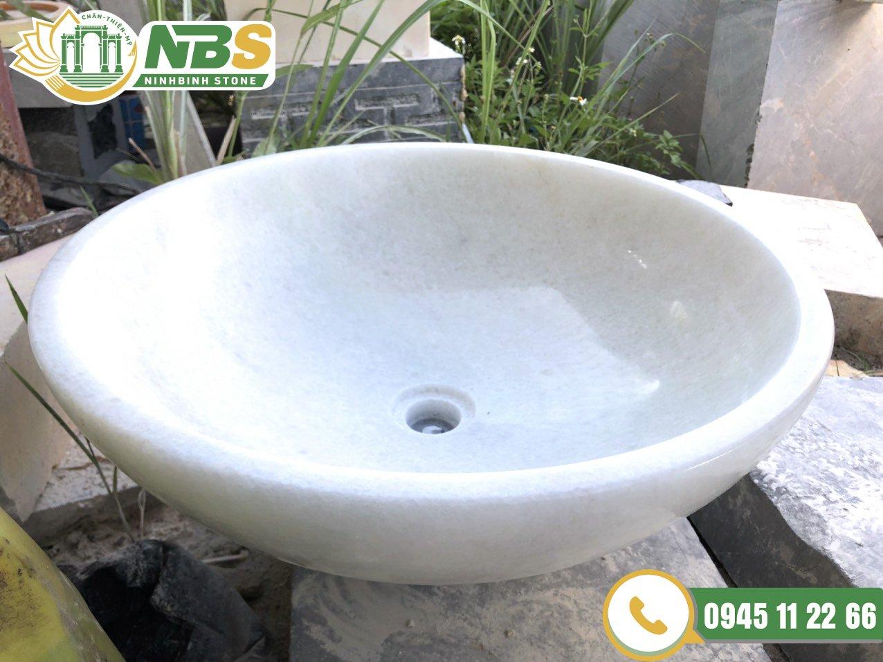 Chậu lavabo đá tự nhiên của Ninh Bình Stone