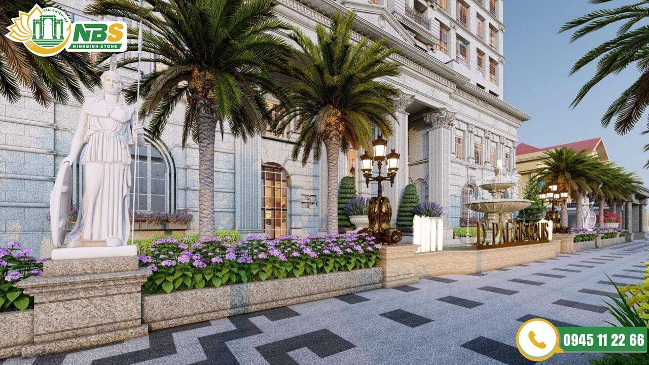 Ninh Bình Stone cung cấp đá ốp lát vỉa hè cho chung cư D'.Palais De Louis