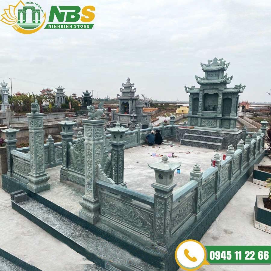 Mẫu lăng mộ bằng đá đẹp - Lăng mộ đá đơn giản đẹp của Ninh Bình Stone