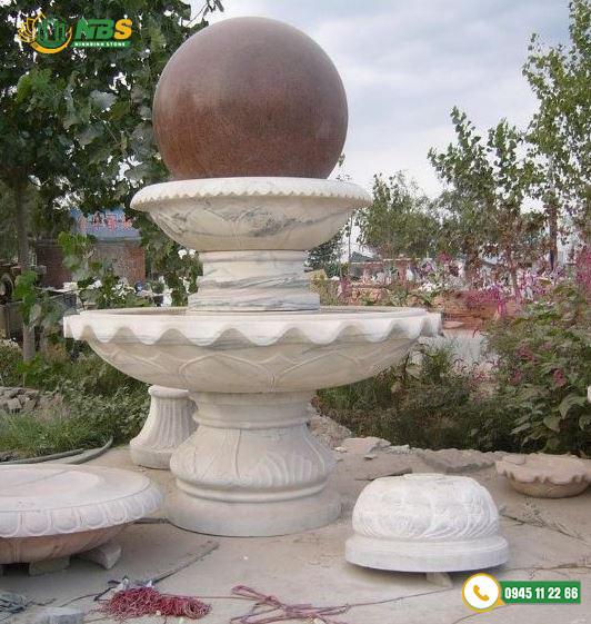 Đài phun nước sân vườn đẹp