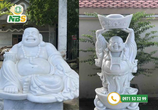 Tượng Phật Di Lặc được chế tác từ đá trắng